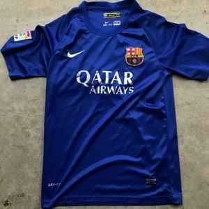 Nike Barcelona men's soccer jersey blue xl